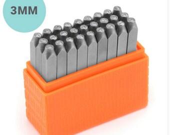 Basic Metal Bridgette Stamp Set, Uppercase, 3mm
