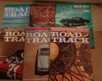 6 1963 Road And Track Automobile Magazines