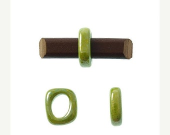 On Sale NOW 25%OFF Greek Ceramic Spacer Beads For Licorice Leather Metallic Pistachio Your Choice In Size CB481 Qty 2