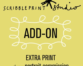 Add on print of your portrait commission order