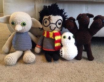 Crochet dobby, dobby doll, Harry Potter dolls, dobby, crochet dobby doll