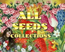ALL SEEDS Collections 1-61 with 5500 vintage pictures botanical digital download printable illustrations wholesale discount 60 OFF Sale