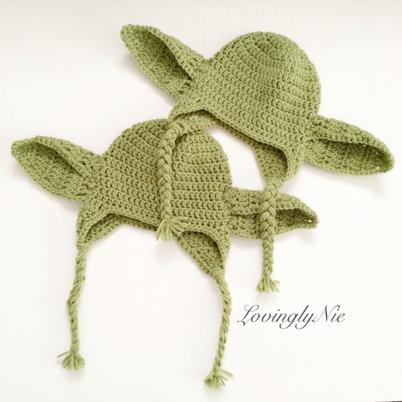 Crochet yoda beanies for twins yoda beanie yoda hat twins