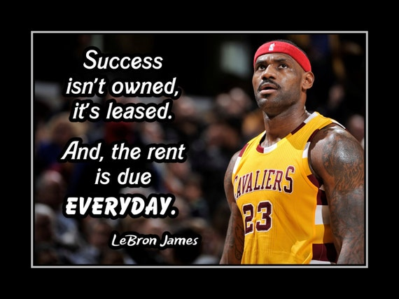 Lebron James Basketball Motivation Quote Poster Son