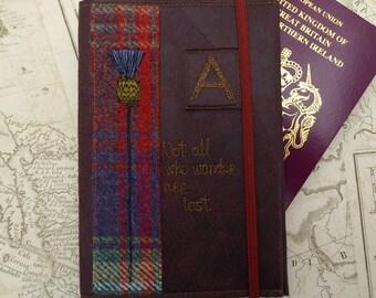 Passport holder, passport cover, personalised passport holder, Scottish gift, tartan.man gift,passport cover,