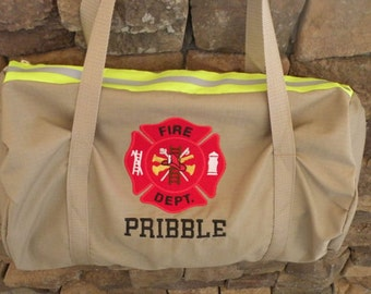 Fire Fighter Duffle bag  tan