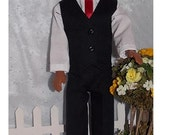 PRESIDENTS DAY SALE Handmade Ken 3 Piece Suit,  Pants/Slacks, Shirt and Vest also fits Vintage Gi Joe (with small fists)