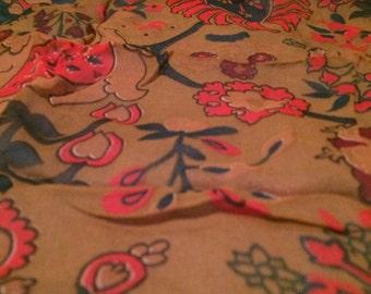 Vintage funky sheer scarf