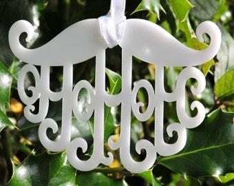 Ho Ho Ho Mustache Christmas Decoration