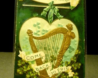 Antique St. Patrick's Day Post Card - 1911