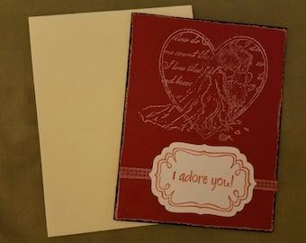 I Adore You Greeting Card