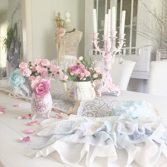Shabby Chic Wedding Table Decorations: Shabby Boho Chic Burlap Table Runner It's A By