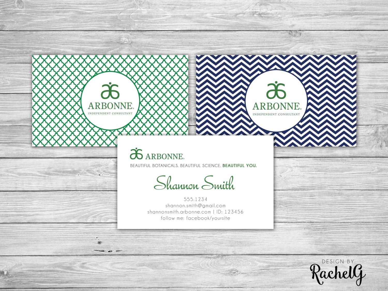 Arbonne Independent Consultant Custom Business Card digital
