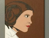 "8""x10"" ORIGINAL ""Leia In A Galaxy Far, Far Away"" - Star Wars Pop Art - acrylic canvas painting - Princess Leia Carrie Fisher A New Hope"