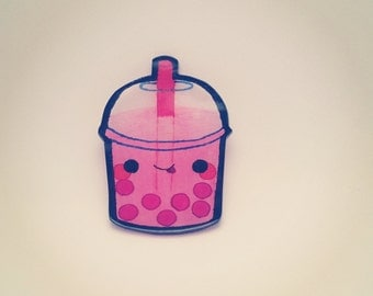 Boba Tea broach / Bubble Tea pin