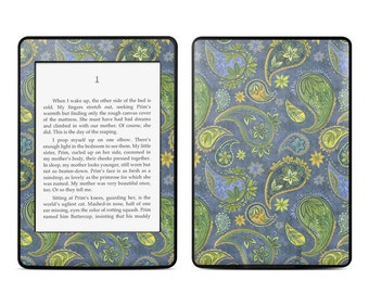 Amazon Kindle Skin - Pallavi Paisley by Nicole Tamarin - Sticker Decal - Fits Paperwhite, Fire, Voyage, Touch, Oasis
