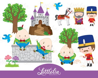 Humpty Dumpty clipart - Nursery rhyme clipart - 16010