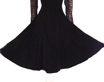 Niki Originals Black Velvet SweetHeart Knock Out Burn Out Dress Mint Condition