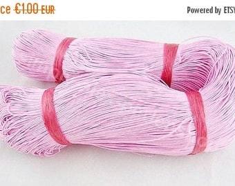 ON SALE 5m Baumwollband gewachst Rosa