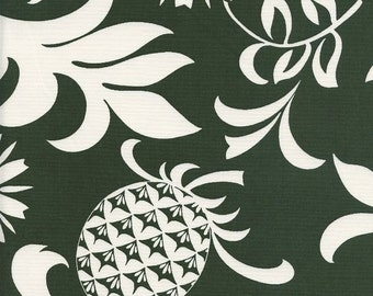 TROPICAL FABRIC: Pineapples & Monstera Leaves (By the Yard)