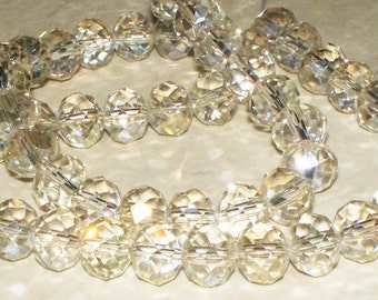 Champagne Color Crystal Rondells - 10x8MM