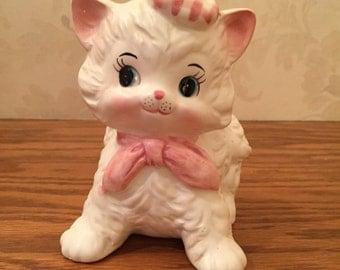 Ceramic Kitten Planter