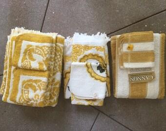 Vintage Bath Towel Sets (3)