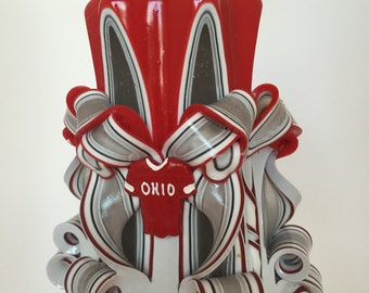 Ohio State Decorative Candle