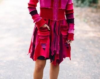 Custom Upcycled Sweater Pixie Coat