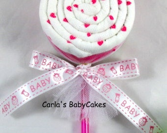 Receiving blanket lollipop | Baby shower gift | Baby shower decoration | New baby gift | Unique baby gift | Blanket lollipop | New mom gift