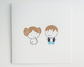 Star Wars / Princess Leia & Han Solo / Card