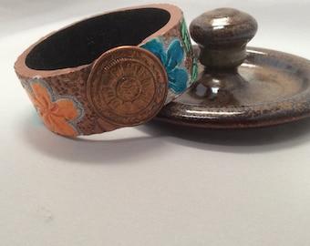 Polymer Clay Bangle Bracelet