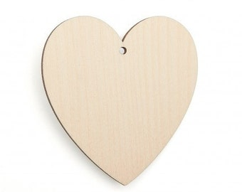 Wooden hearts,Classic Hearts, Tags. Unfinished wood tags
