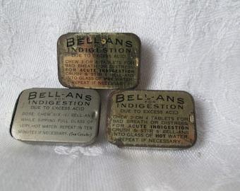 Vintage Bell-Ans Vest Pocket Tins