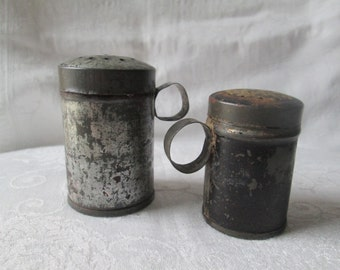 Antique Tin Shakers