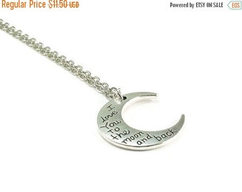 On Sale I Love You to the Moon and Back Necklace