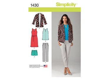 Simplicity 1430R5, Simplicity Sewing Pattern 1430R5, Misses Skirt Pattern, Misses Pants Pattern, Misses Shorts Pattern, FREE SHIP, Sz 14-22
