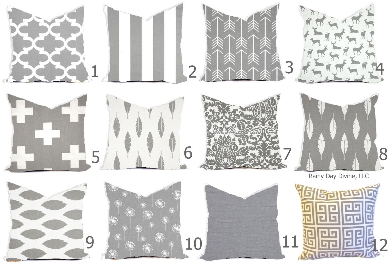 gray pillow covers gray and white throw pillows gray decorative pillows gray euro