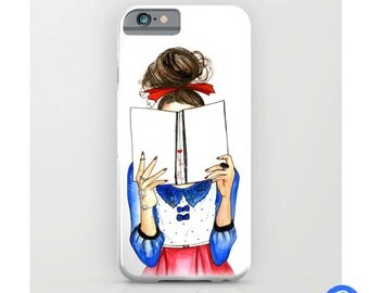 Original Bookworm Smartphone Case - iPhone  - Android - Handmade in UK
