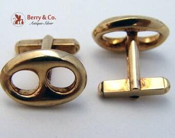Gucci Cufflinks 14K Yellow Gold 1980s