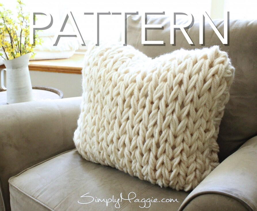 Big Stitch Knitting Patterns : Big Stitch Pillow Pattern // Knit Pillow // by SimplyMaggieKnits