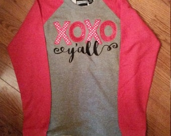 XOXO YALL high low shirt