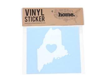 Maine Heart Decal Car or Laptop Sticker by Home State Apparel