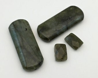4 labradorite stone beads #PP045