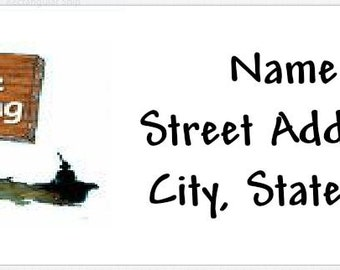 Gone Fishing Personalized Return Address Labels Buy 3 Get 1 Free