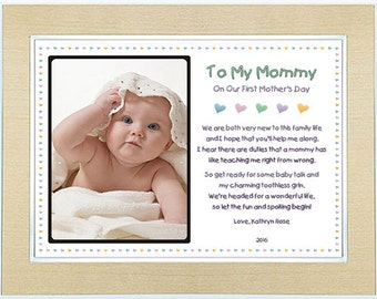 1st Mother's Day Gift for Mommy from Son or Daughter - Personalized - Add Photo (60-299)