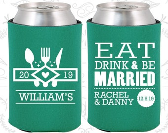 Teal Wedding, Can Coolers, Teal Wedding Favors, Teal Wedding Gift, Teal Wedding Decor (424)