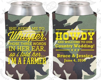 Camouflage Wedding, Can Coolers, Camouflage Wedding Favors, Camouflage Wedding Gift, Camouflage Wedding Ideas (545)