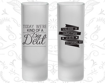 Today We are Kind of a Big Deal, Frosted Shooter Glasses, Vintage Wedding, Romantic Wedding (392)