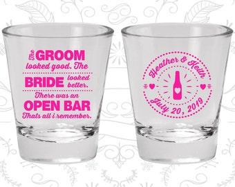 Personalized Shot Glasses (C253) Wedding Shot Glasses, Shot Glasses, Shot Glass, Custom Shot Glasses, Wedding Favor Shot Glasses